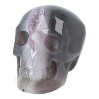 thumb-Agaat Amethist Geode kristallen schedel 523 gram-3