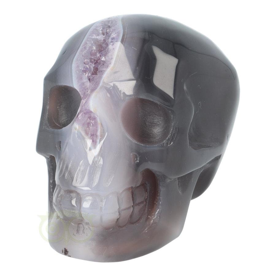 Agaat Amethist Geode kristallen schedel 523 gram-3