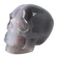 thumb-Agaat Amethist Geode kristallen schedel 523 gram-4
