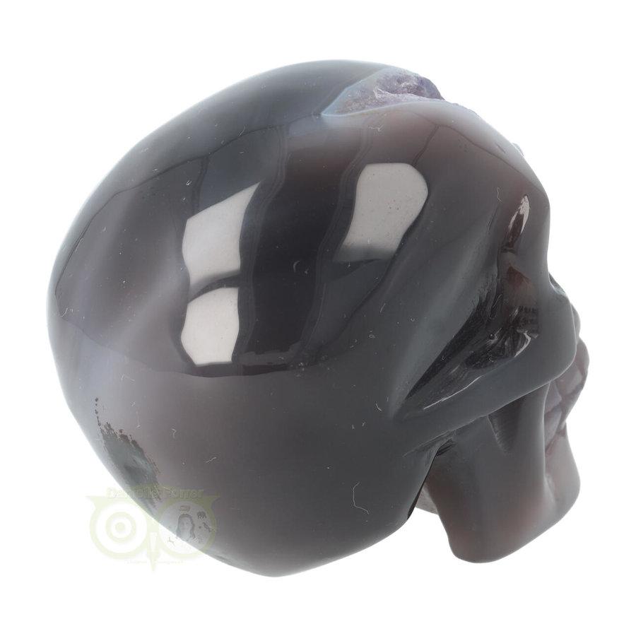 Agaat Amethist Geode kristallen schedel 523 gram-6