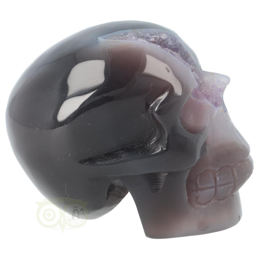 Agaat Amethist Geode kristallen schedel 523 gram-7