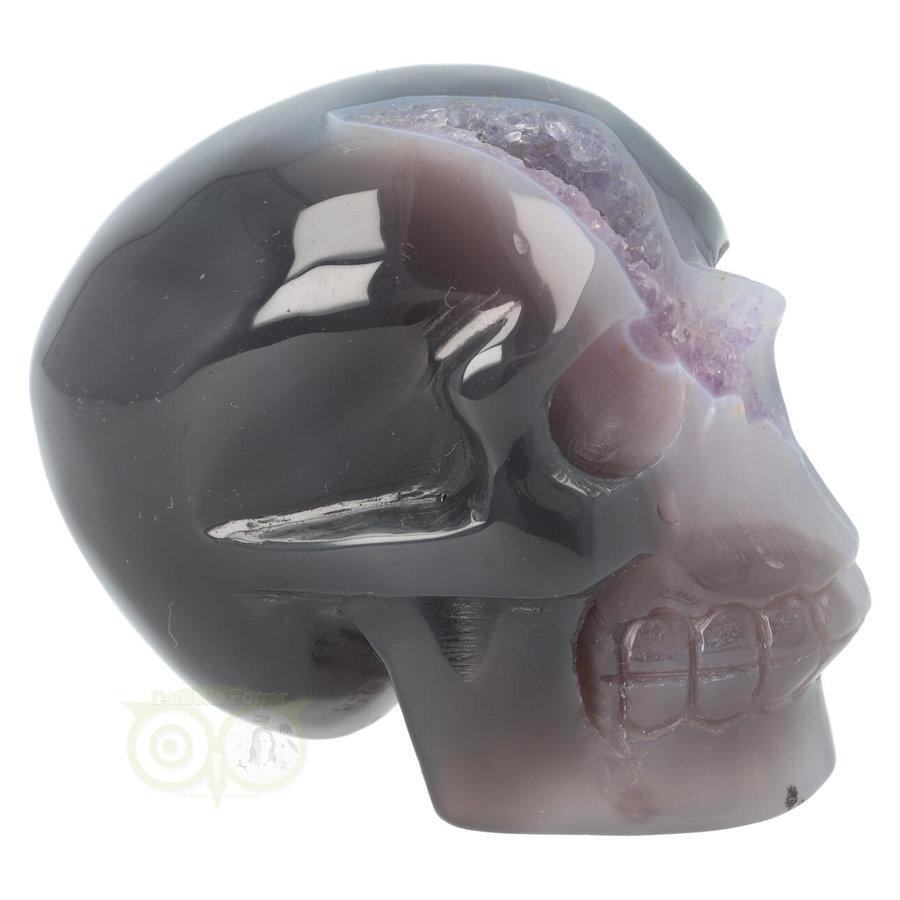 Agaat Amethist Geode kristallen schedel 523 gram-8