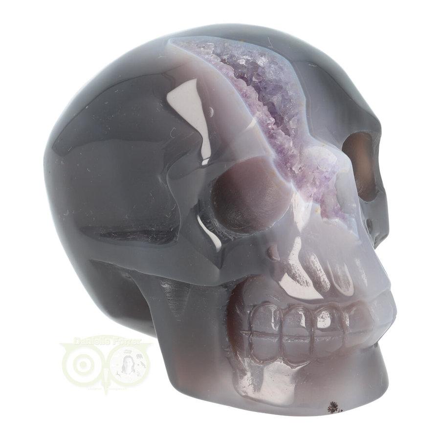Agaat Amethist Geode kristallen schedel 523 gram-10