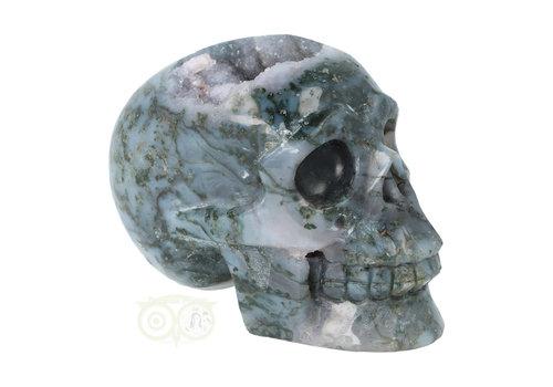 Mosagaat geode schedel 513 gram