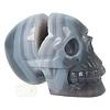 Agaat  Geode 'Tooth' kristallen schedel 714 gram