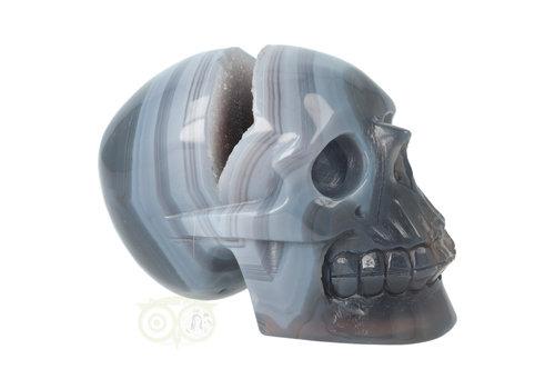 Agaat  Geode kristallen schedel 714 gram