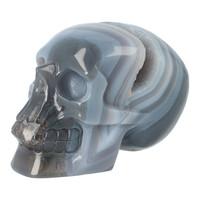 thumb-Agaat  Geode 'Tooth' kristallen schedel 714 gram-7