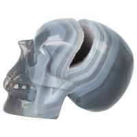 thumb-Agaat  Geode 'Tooth' kristallen schedel 714 gram-8