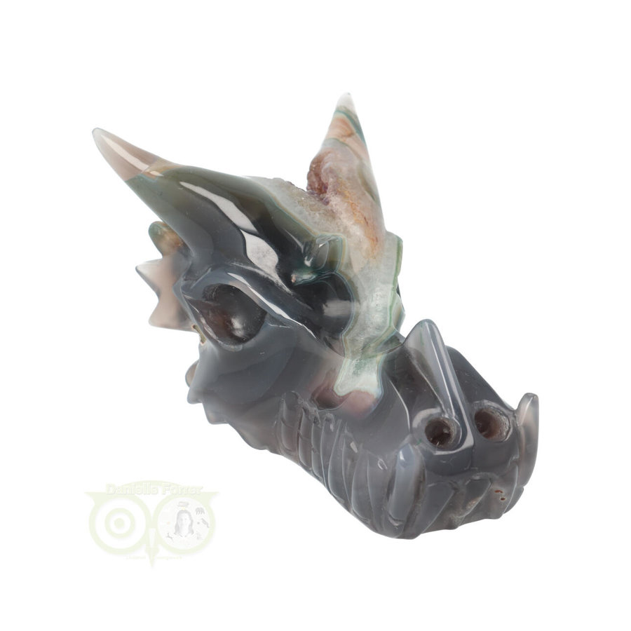 Agaat Geode Drakenschedel 562 gram-10