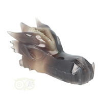 thumb-Agaat Chalcedoon Geode Drakenschedel 618 gram-2