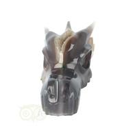 thumb-Agaat Chalcedoon Geode Drakenschedel 618 gram-4