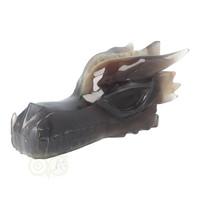 thumb-Agaat Chalcedoon Geode Drakenschedel 618 gram-6