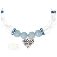 thumb-Armband Angeliet / Bergkristal met Bedel engelenvleugels-2