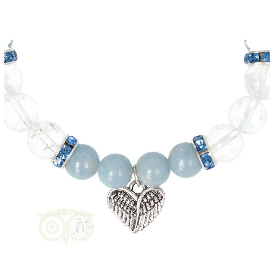 Armband Angeliet / Bergkristal met Bedel engelenvleugels-2