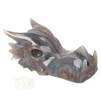 thumb-Agaat - Amethist Geode Drakenschedel 484 gram-1