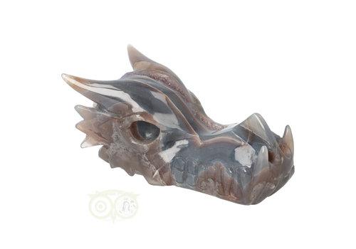 Agaat - Amethist Geode Drakenschedel 484 gram