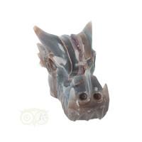 thumb-Agaat - Amethist Geode Drakenschedel 484 gram-3