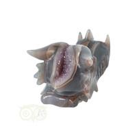 thumb-Agaat - Amethist Geode Drakenschedel 484 gram-8