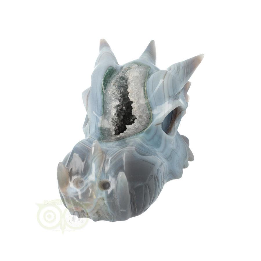 Agaat Geode XL Drakenschedel 1197 gram-4