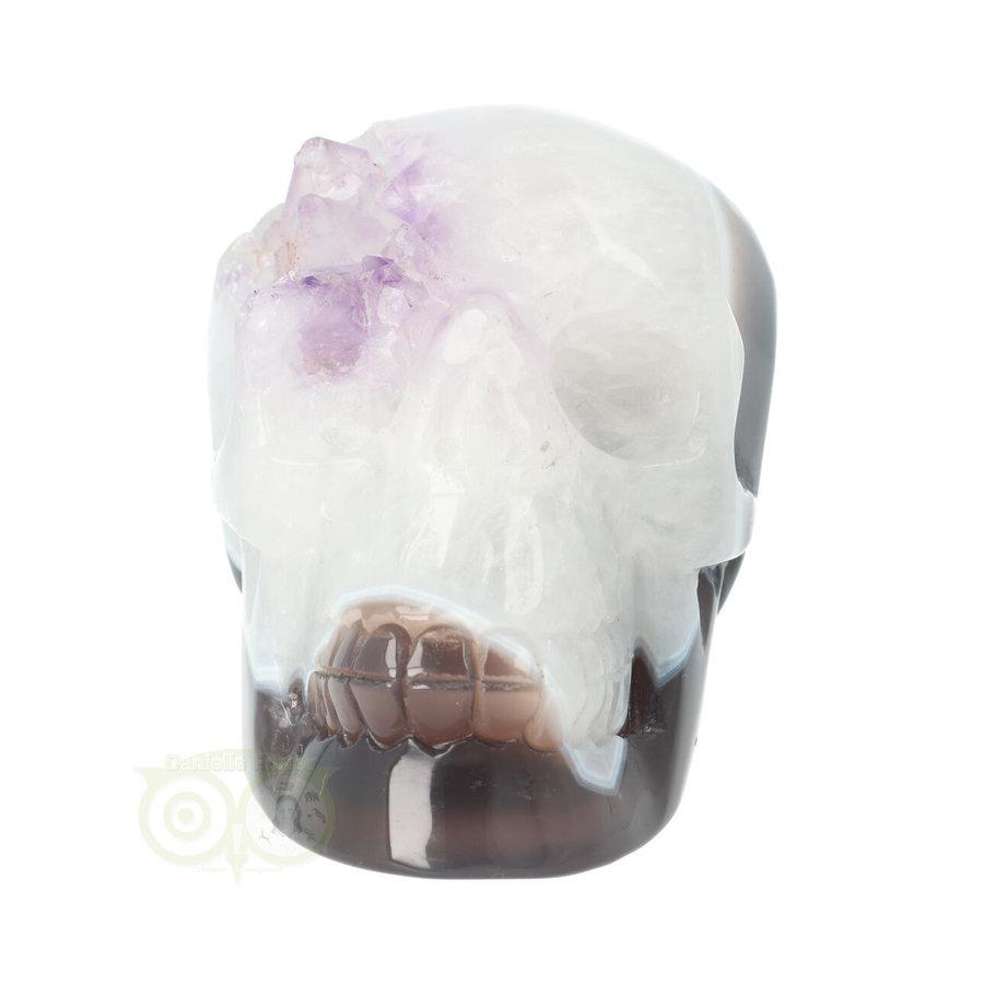 Agaat kristallen schedel 845 gram-3