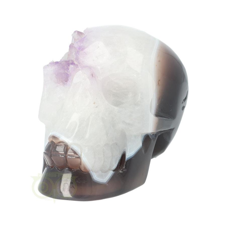 Agaat kristallen schedel 845 gram-4