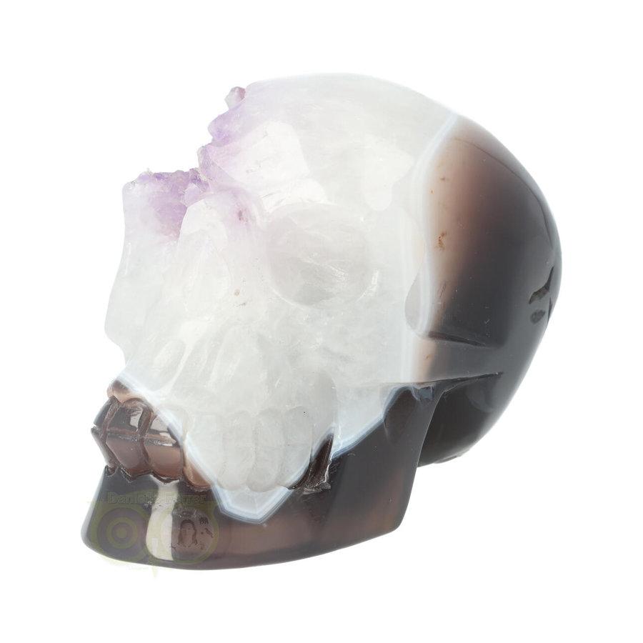 Agaat kristallen schedel 845 gram-5