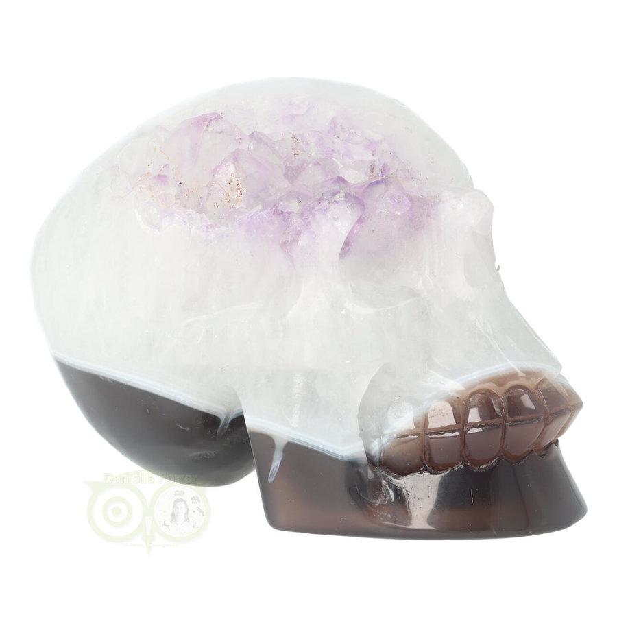 Agaat kristallen schedel 845 gram-10