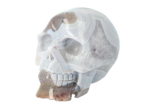 Agaat kristallen schedel 1,02 kg