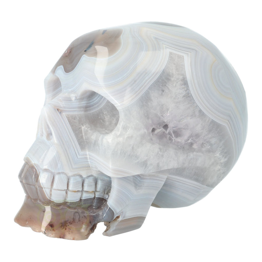 Agaat kristallen schedel 1023 gram-2