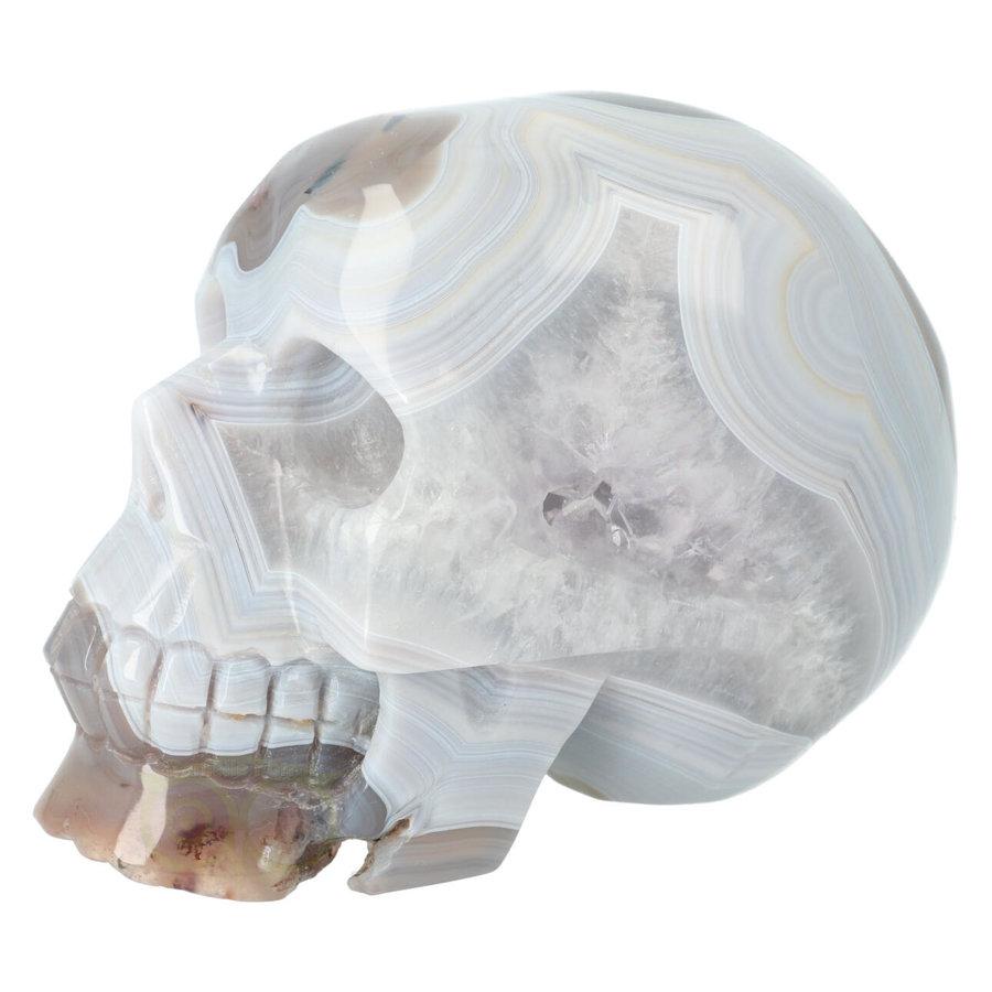 Agaat kristallen schedel 1023 gram-3