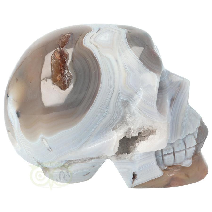 Agaat kristallen schedel 1023 gram-5