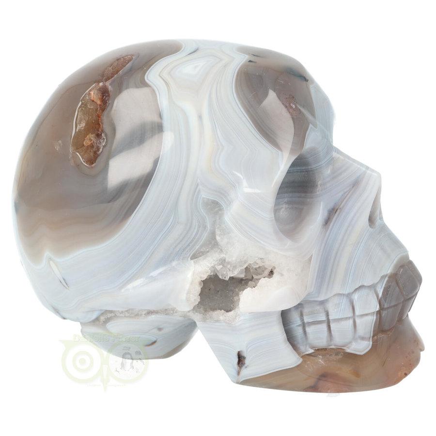 Agaat kristallen schedel 1023 gram-6