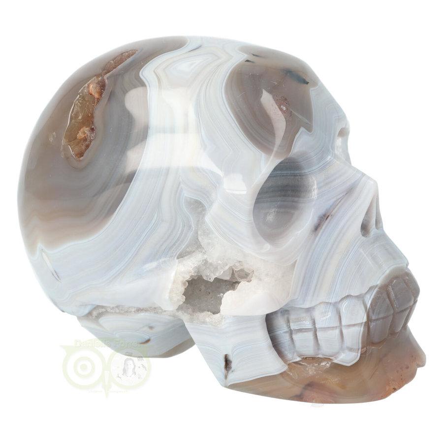 Agaat kristallen schedel 1023 gram-7