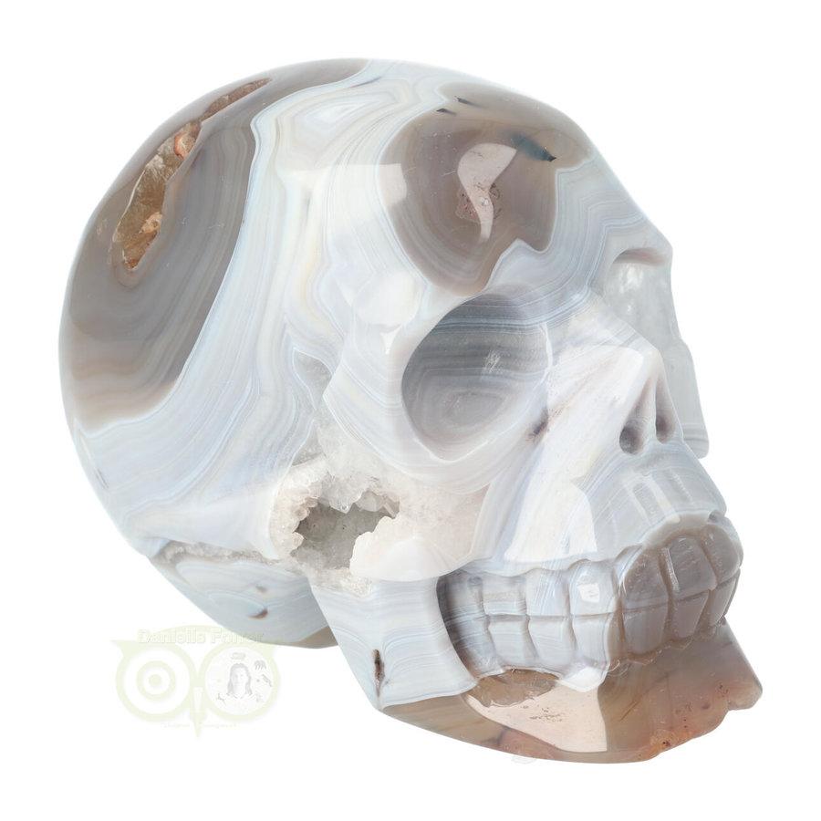 Agaat kristallen schedel 1023 gram-8