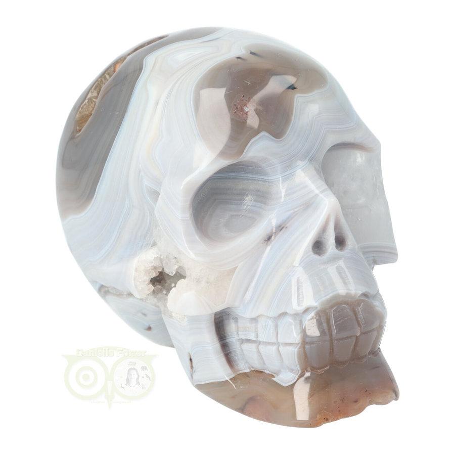 Agaat kristallen schedel 1023 gram-9