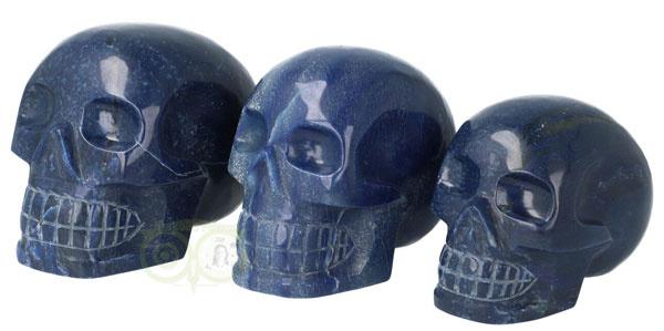 NIEUW in de webshop: Blauwe Kwarts schedels | Edelstenen Webwinkel - Webshop Danielle Forrer