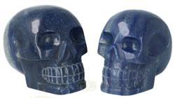 Blauwe kwarts schedels | Blauwe kwarts kristallen schedels kopen | Edelstenen Webwinkel - Webshop Danielle Forrer