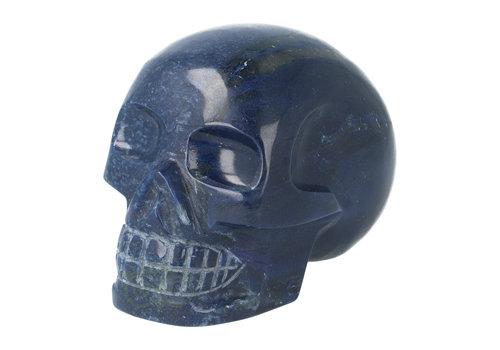 Blauwe kwarts kristallen schedel 846 gram