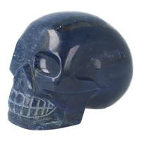 thumb-Blauwe kwarts kristallen schedel 846 gram-2