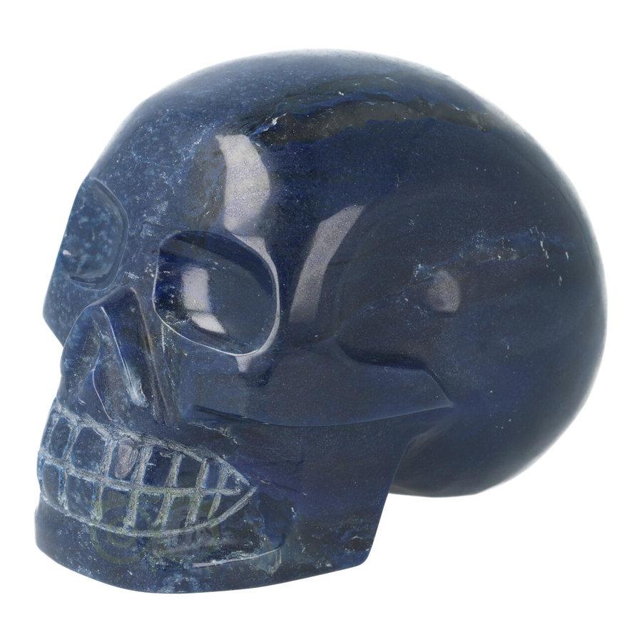 Blauwe kwarts kristallen schedel 846 gram-2
