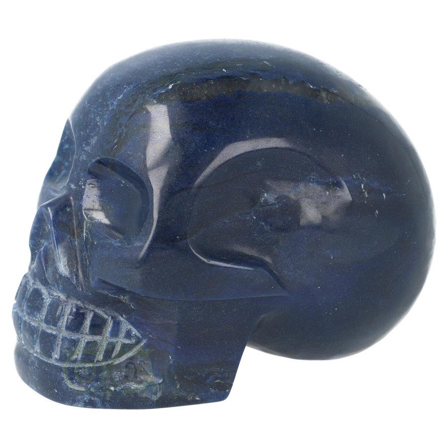 Blauwe kwarts kristallen schedel 846 gram-3