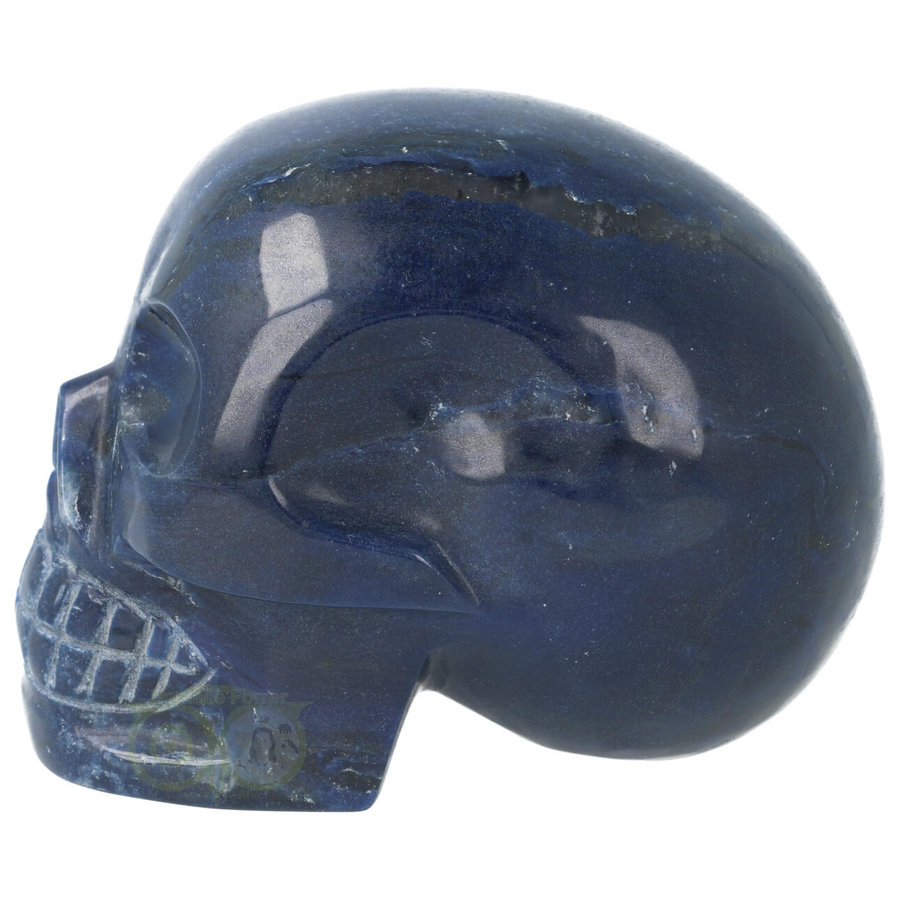 Blauwe kwarts kristallen schedel 846 gram-4