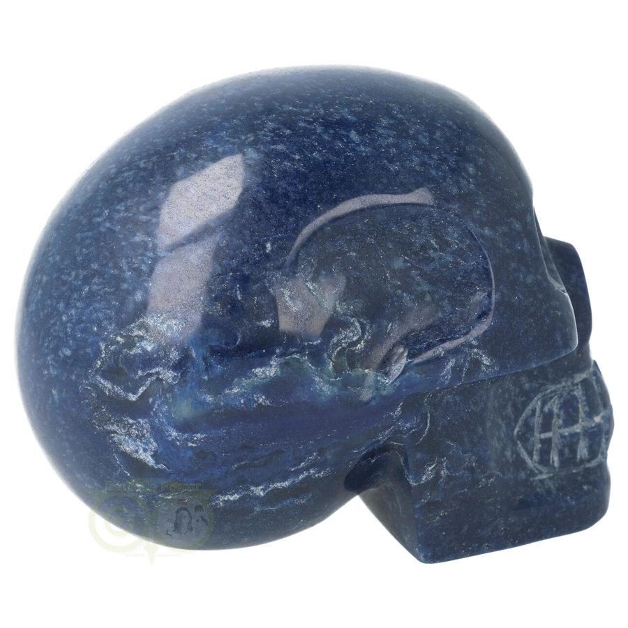 Blauwe kwarts kristallen schedel 846 gram-5