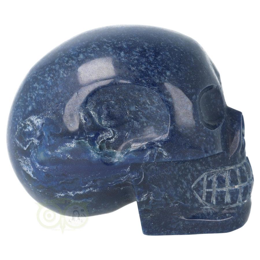 Blauwe kwarts kristallen schedel 846 gram-6