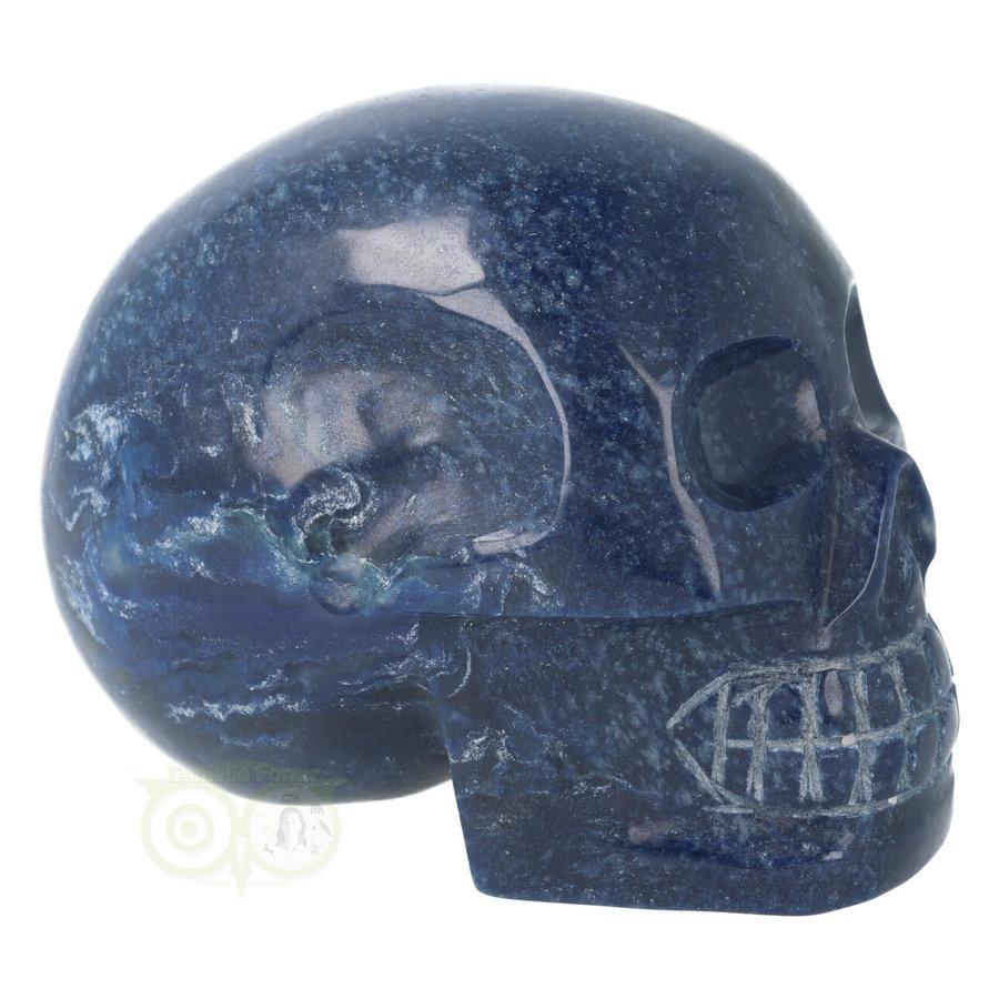 Blauwe kwarts kristallen schedel 846 gram-7