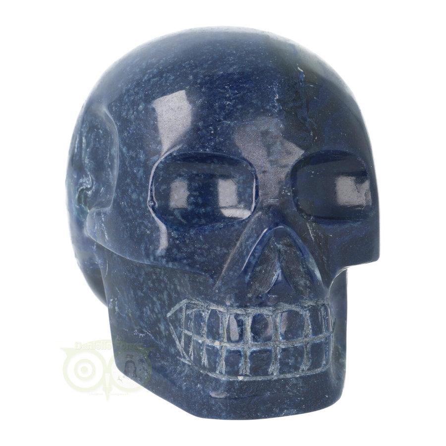 Blauwe kwarts kristallen schedel 846 gram-9