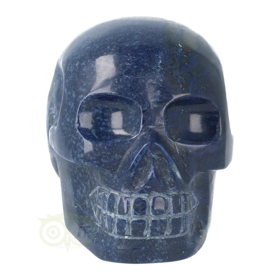 Blauwe kwarts kristallen schedel 846 gram-10