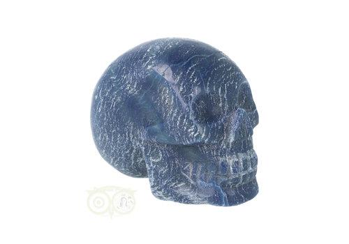 Blauwe kwarts kristallen schedel 606 gram