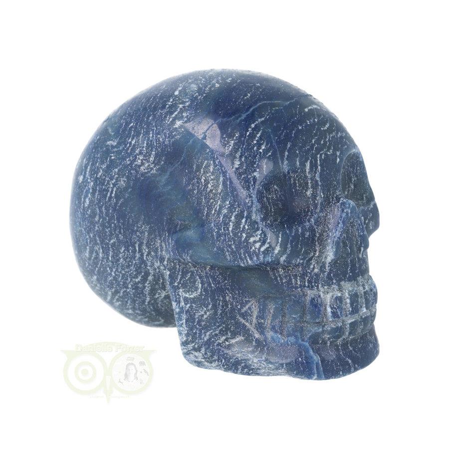 Blauwe kwarts kristallen schedel 606 gram-1