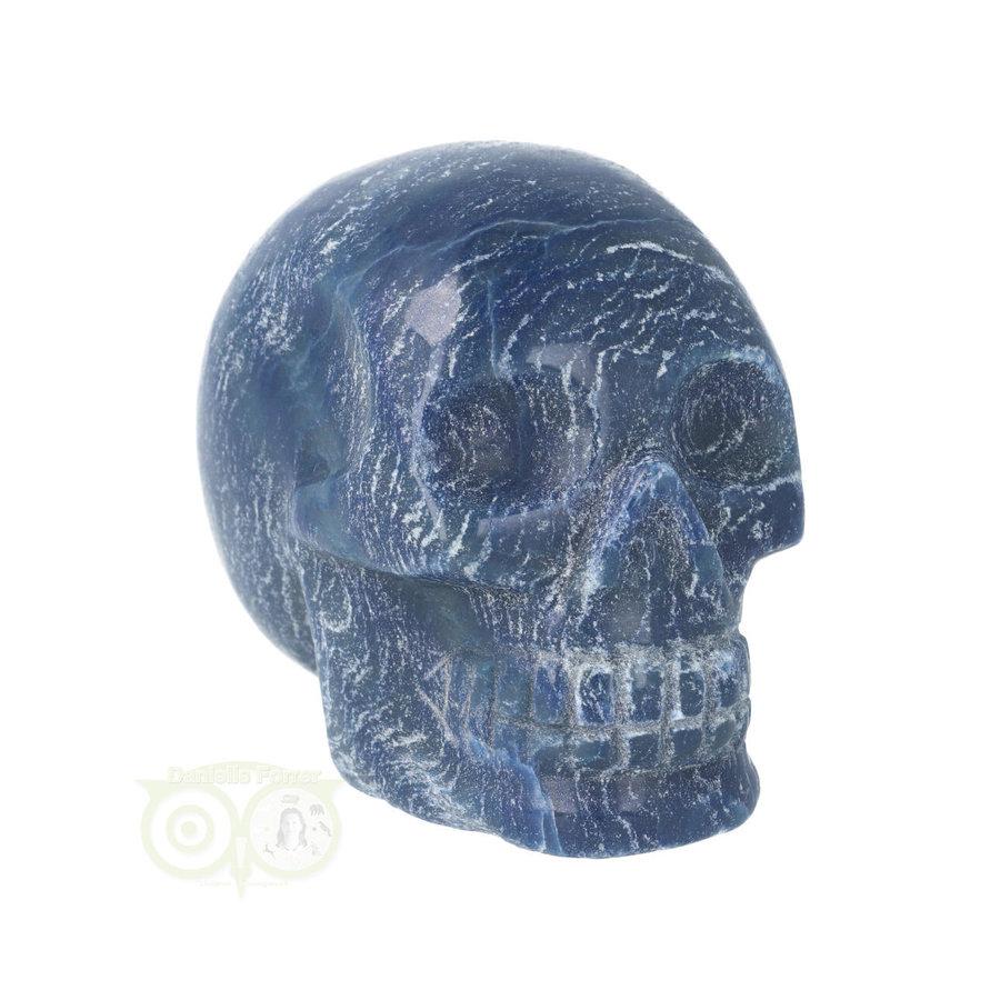 Blauwe kwarts kristallen schedel 606 gram-2